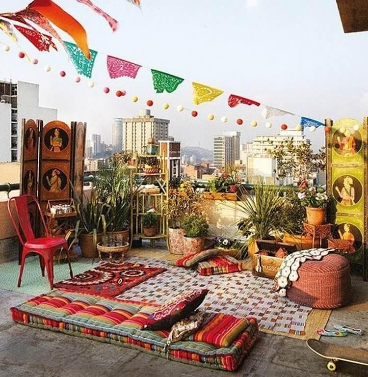 bohemian style outdoor and garden (6)