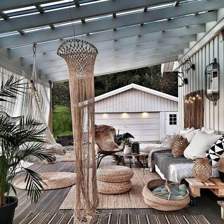 bohemian style outdoor and garden (8)